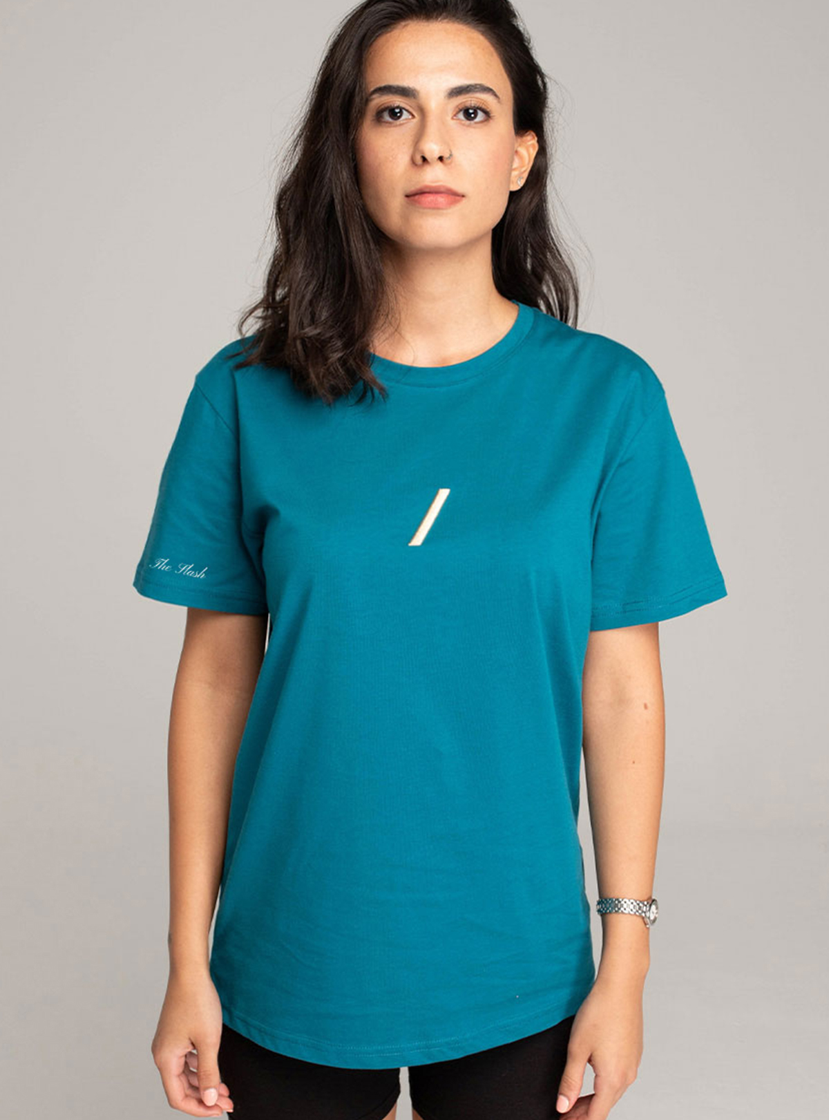 The Basic Collection Kadın - Tshirt Petrol