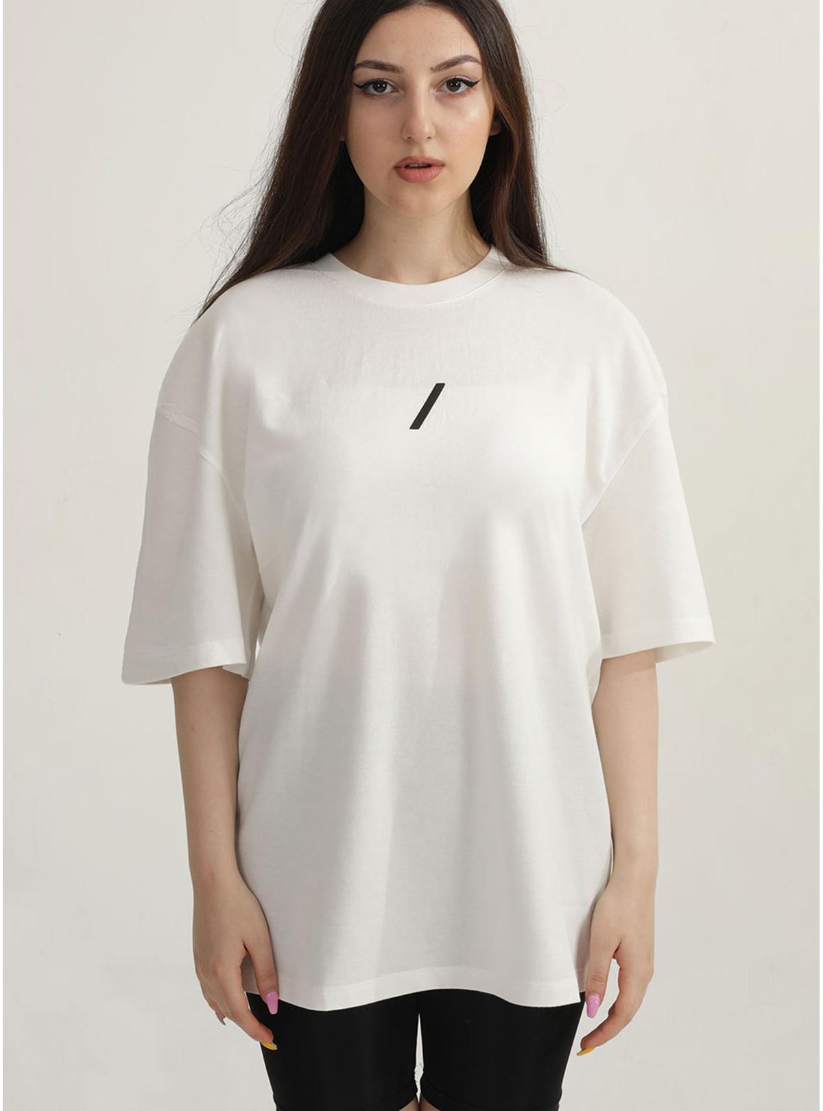 Yaşam Çiçeği Özel Koleksiyon Kadın - Oversize Tshirt Beyaz