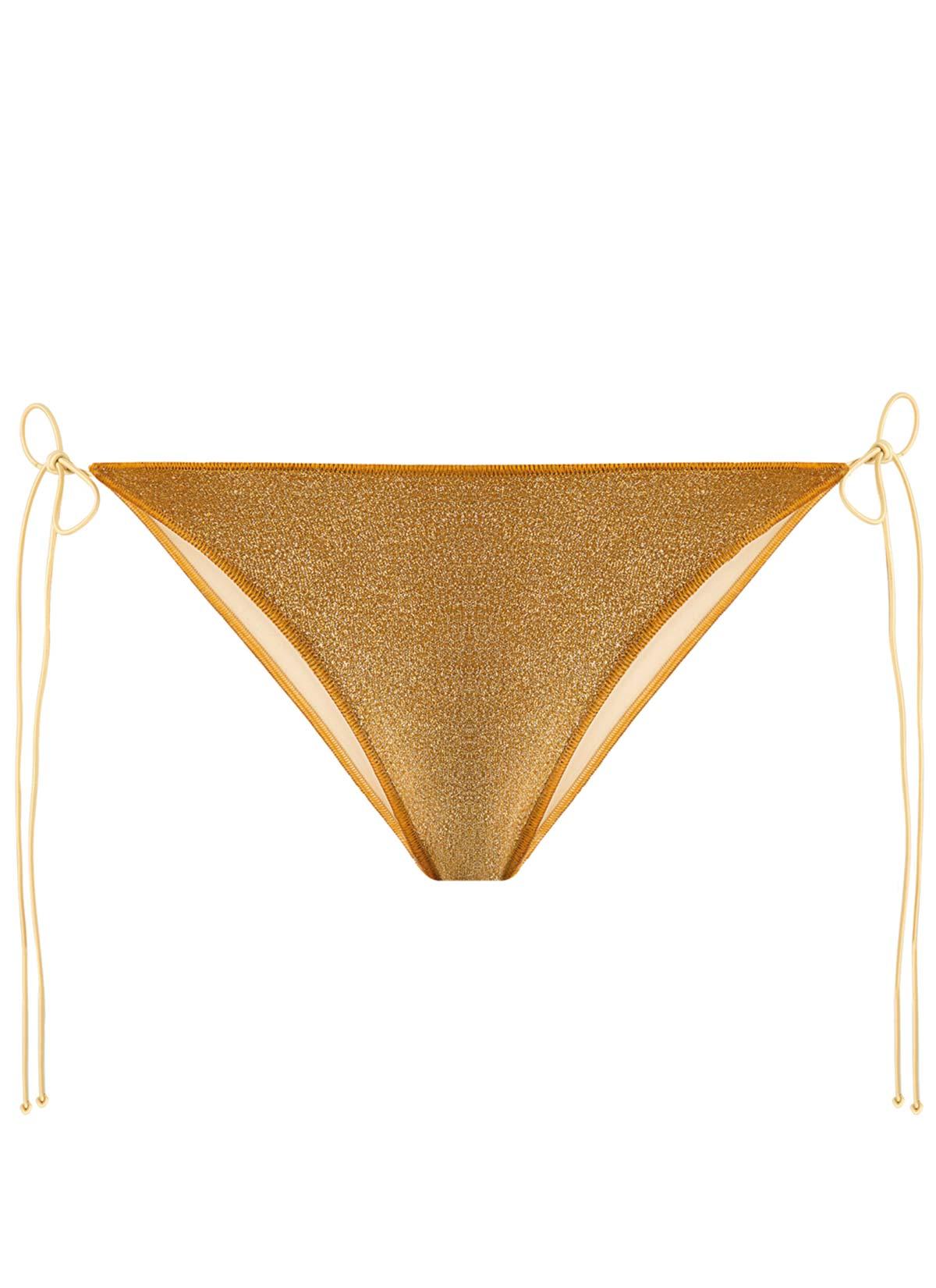 Tina Altın Simli Bikini Altı