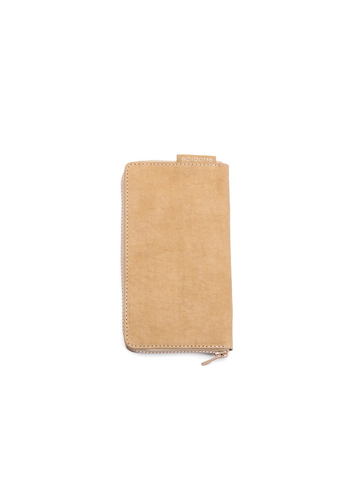 Zipped Wallet Beige
