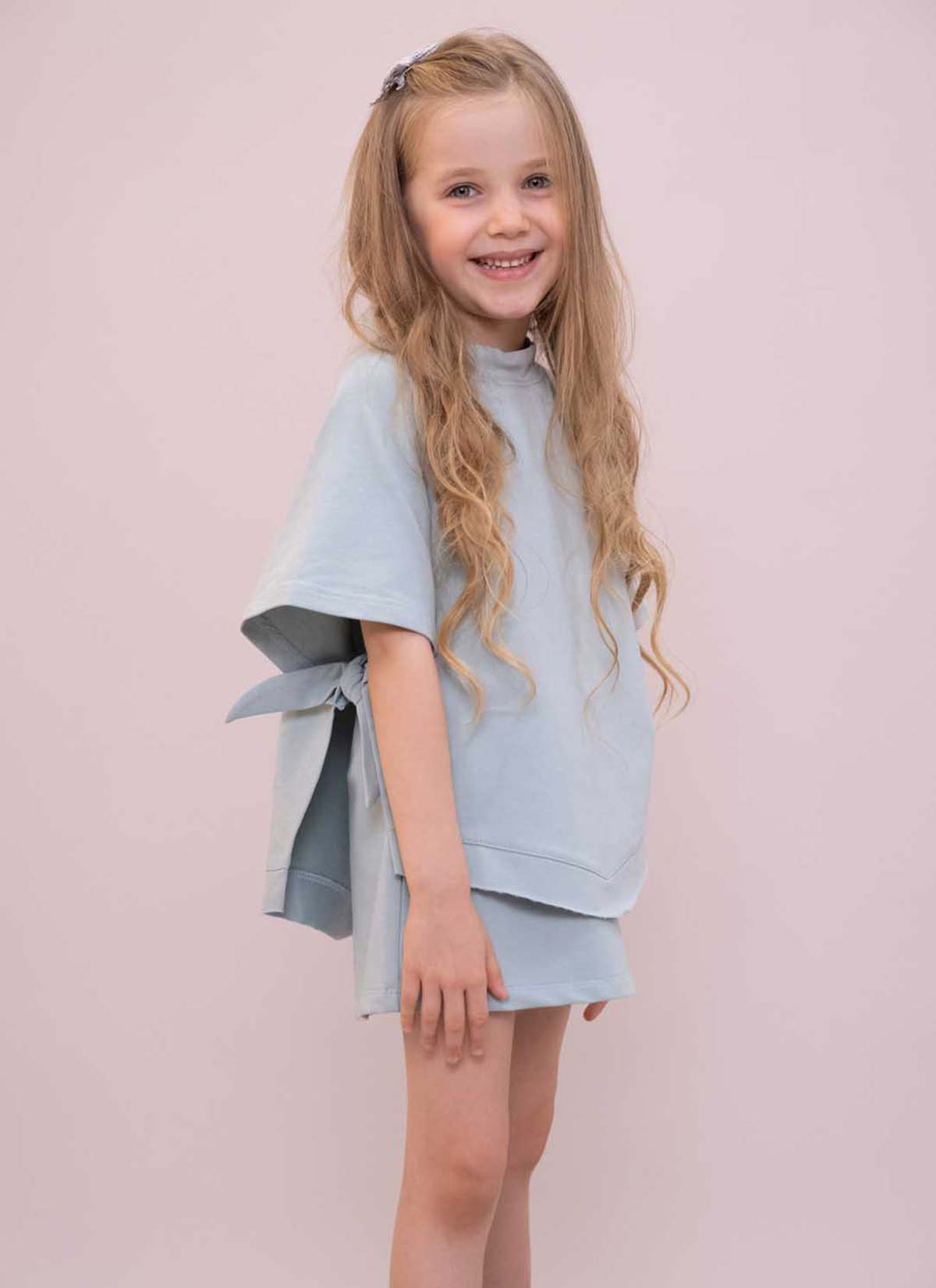 Mint Yarasa Kol Kız Çocuk Sweatshirt