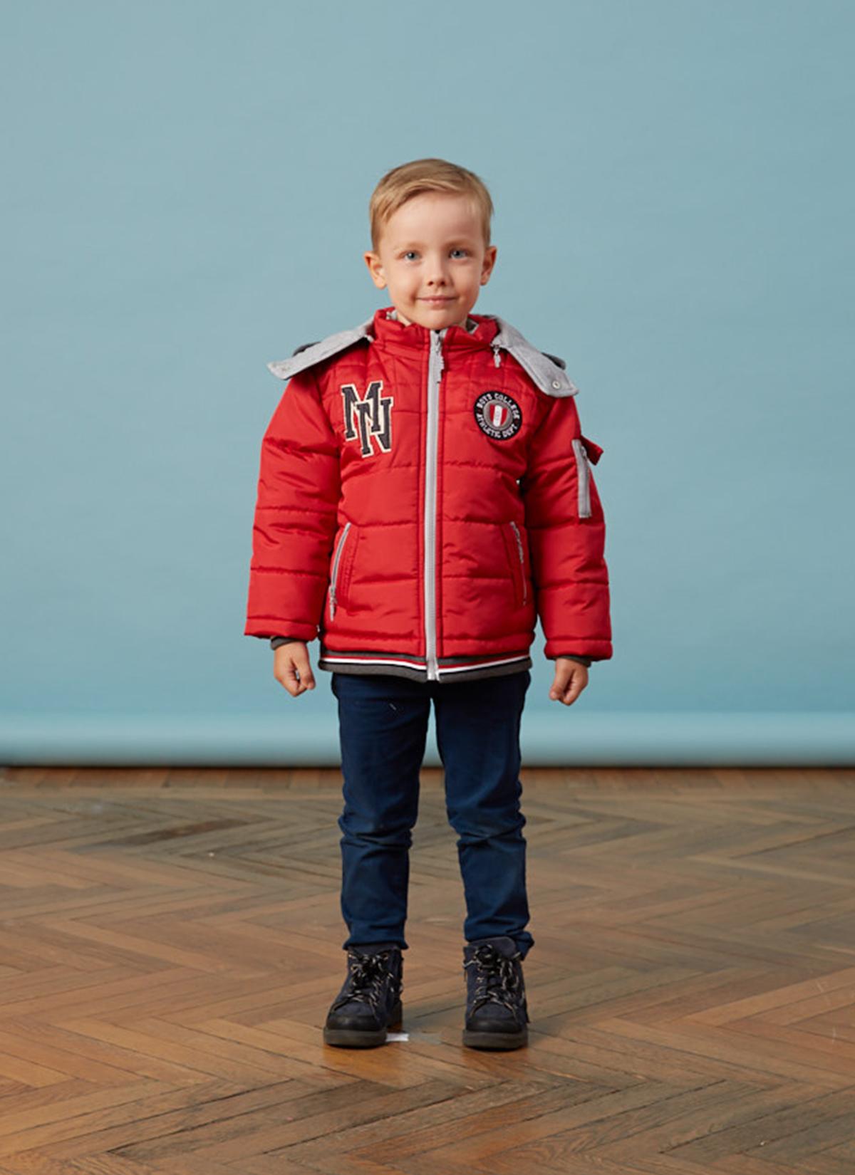 Bebe Ribanalı Kırmızı Erkek Anorak