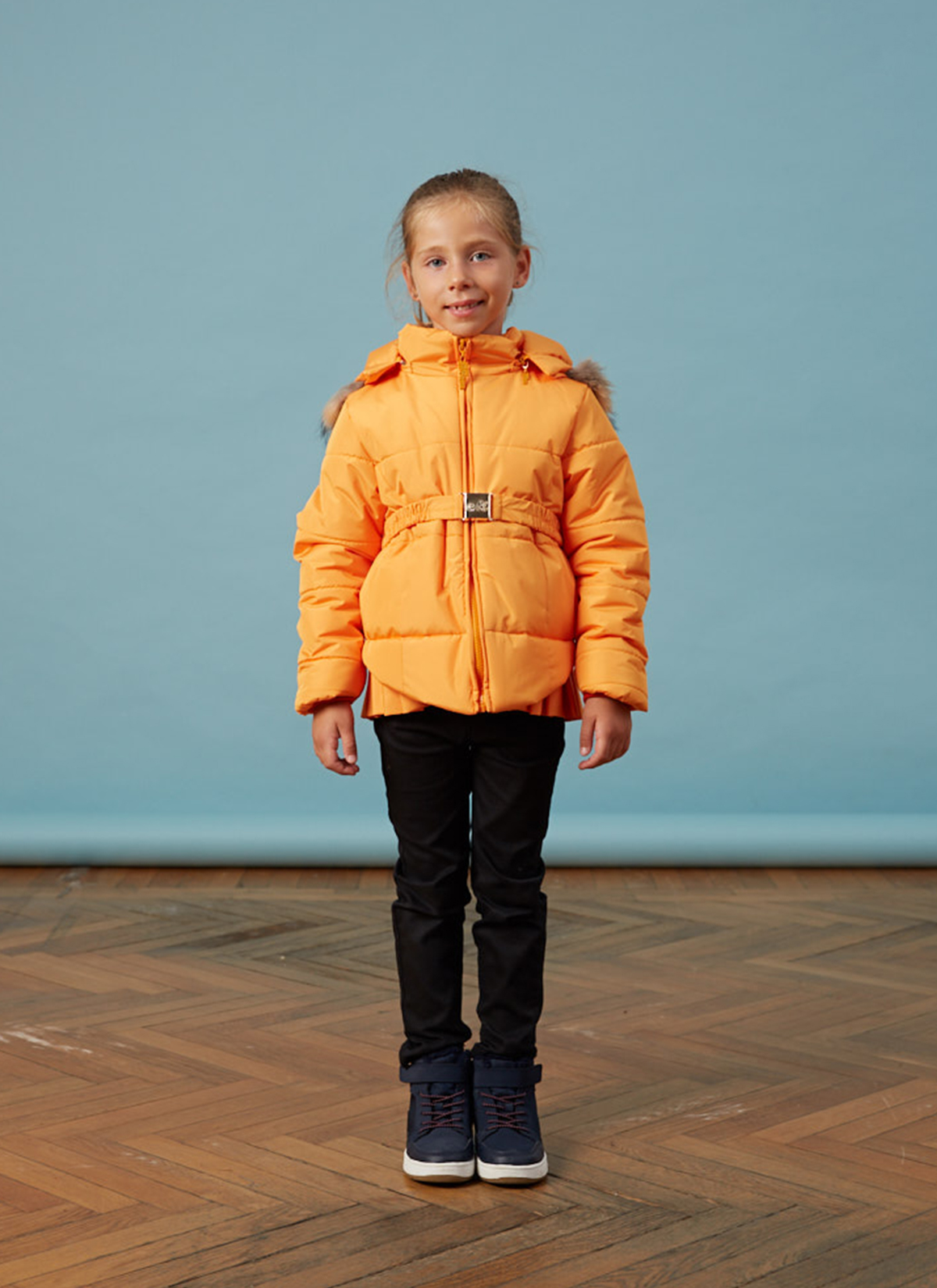 Bebe Pileli Sarı Kız Anorak