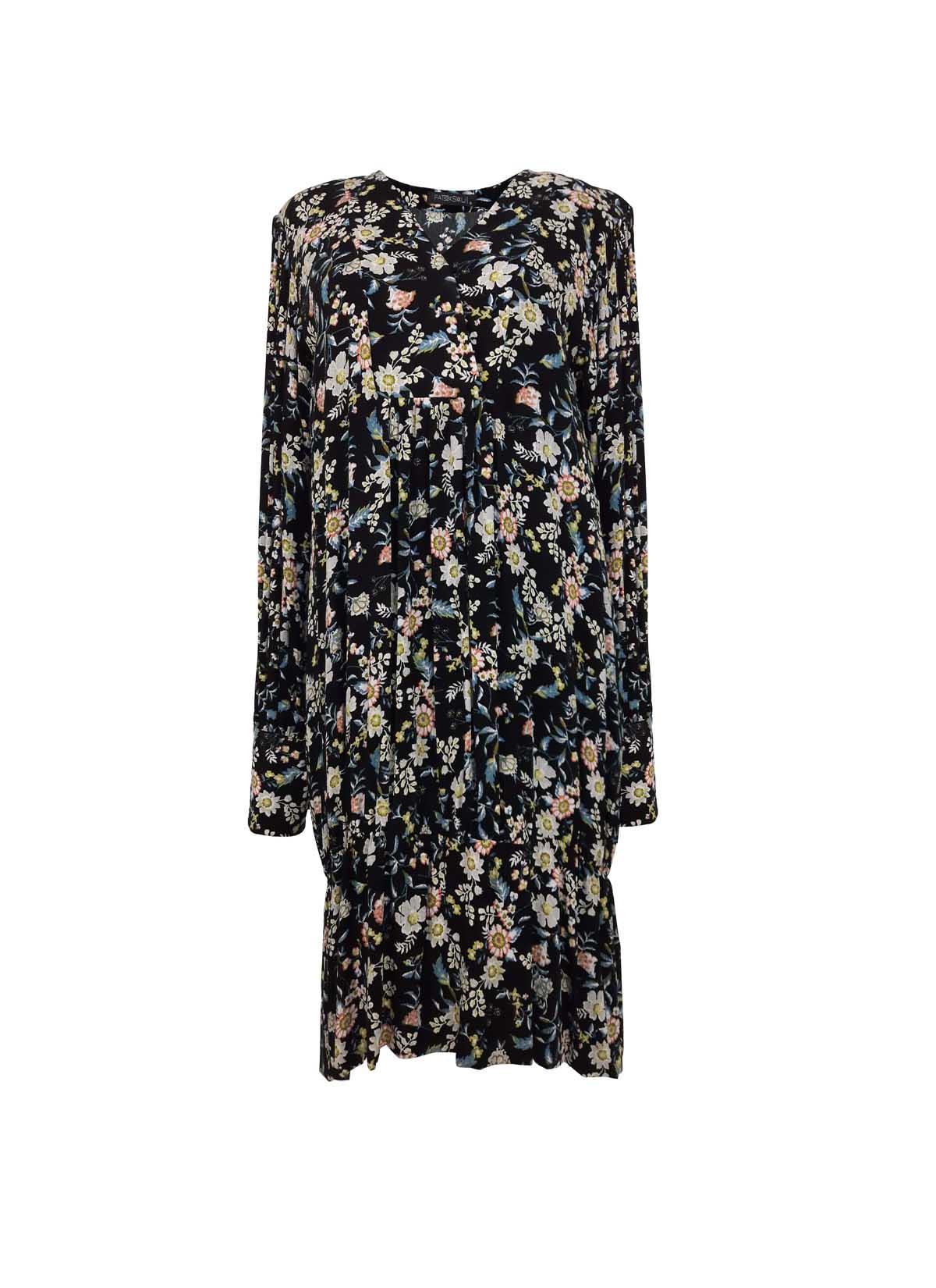 Renkli Çiçekli Elbise
