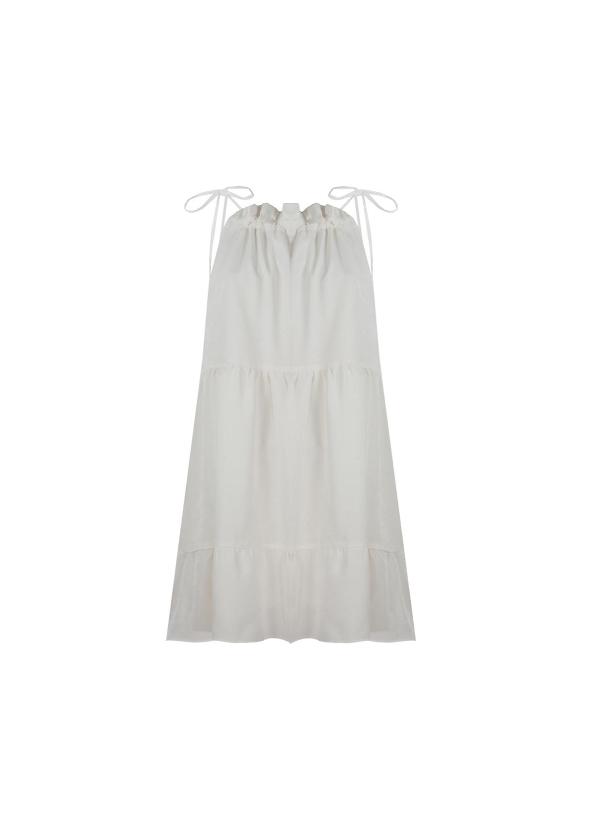 Azha Beyaz Mini Elbise
