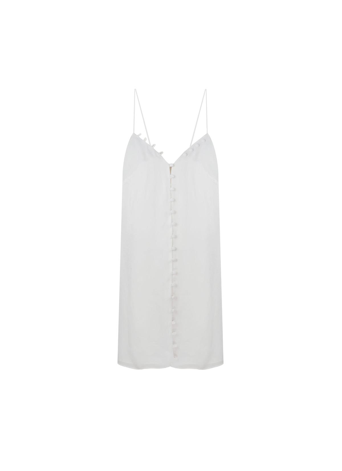 Biham Beyaz Kısa Elbise
