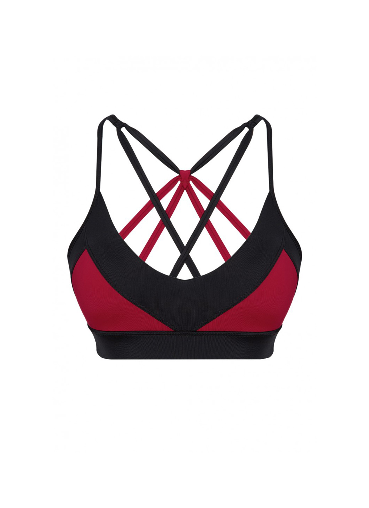 Aria Econyl Siyah Spor Bra & Bikini Üstü