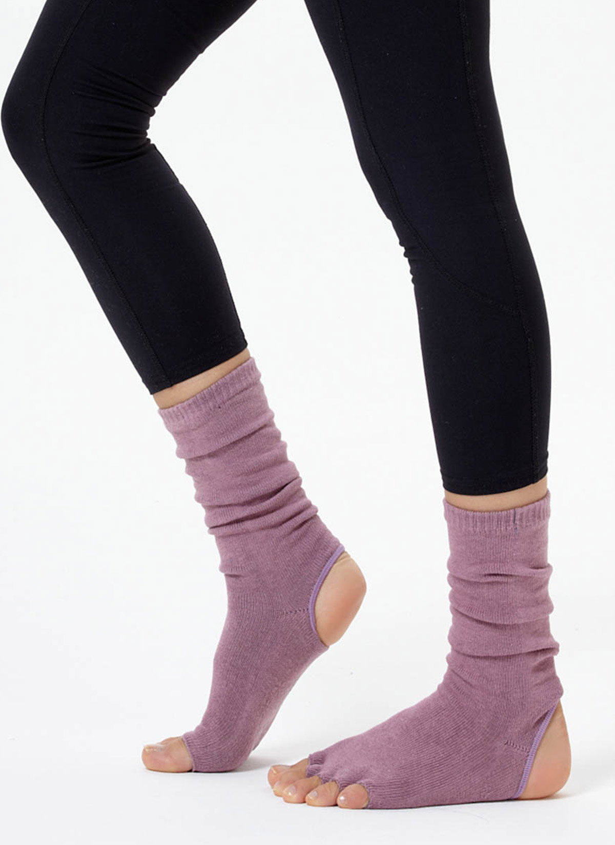 Gül Kurusu Bilekli Yoga & Pilates Çorabı