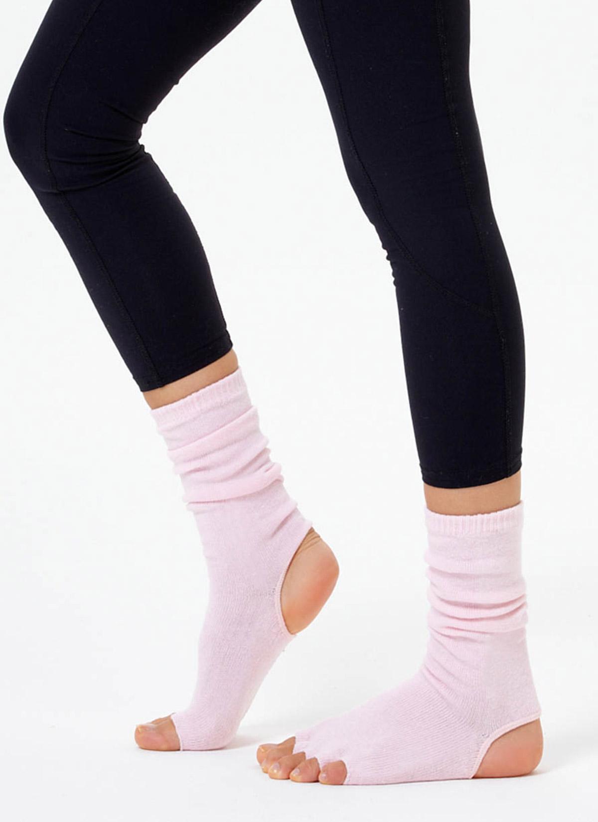 Pembe Bilekli Yoga & Pilates Çorabı
