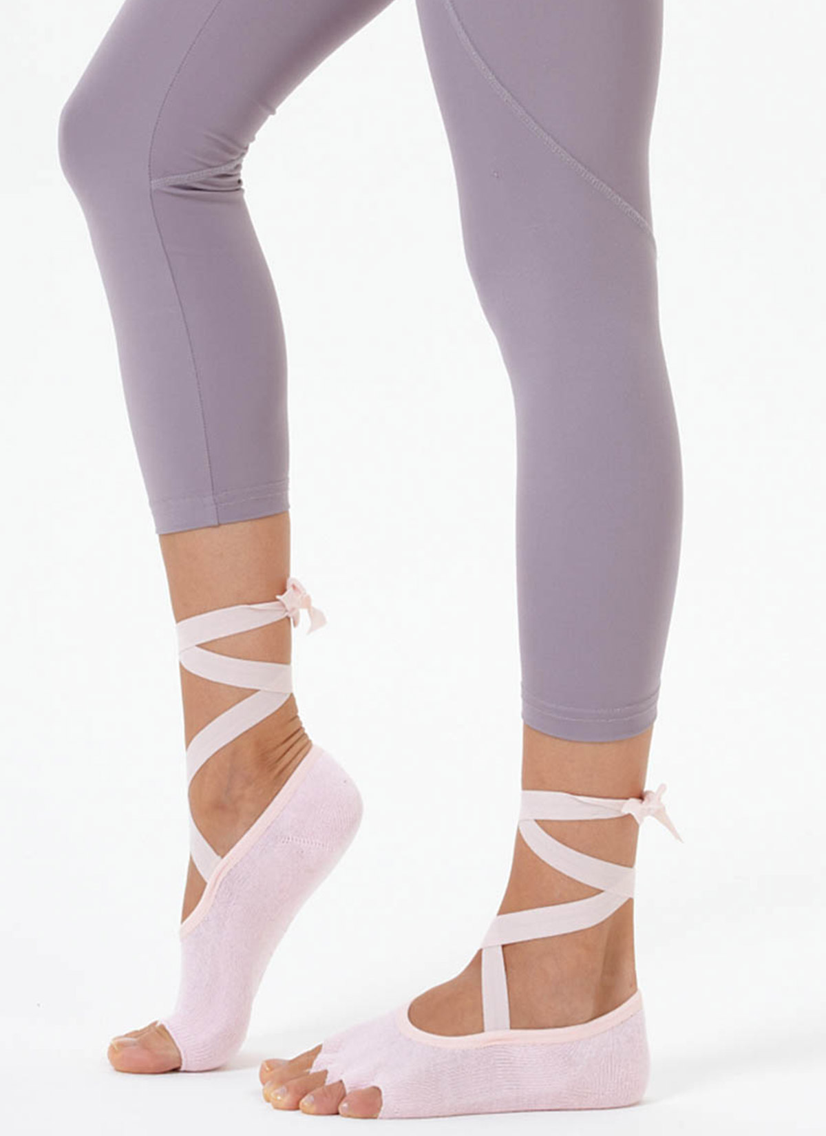 Pembe Kayışlı Yoga & Pilates Çorabı