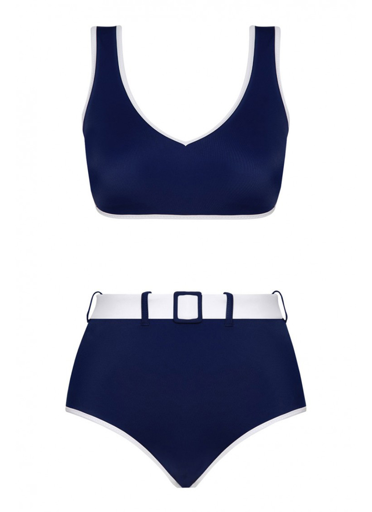 Ava Two-Tone Econyl Lacivert Bikini